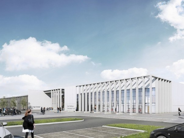 An artist's impression of our new school