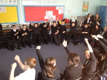 Fun in Mrs Darmady's S1 Personal Support and French class