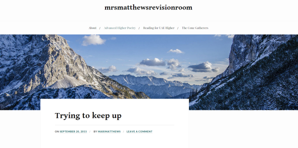 Mrs Matthews's new revision blog!