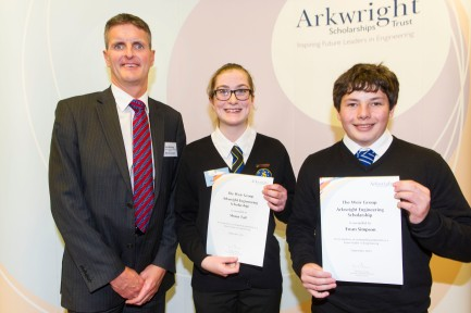 Shona, Mr McHarg and her fellow scholar Ewan Simpson from Auchterarder.
