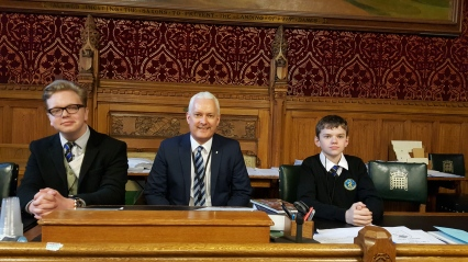 The boys meet our local MP