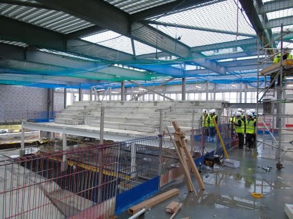 Technical pupils visit the school site - January 2016