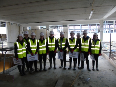 Technical pupils visit the school site - January 2016Technical pupils visit the school site - January 2016