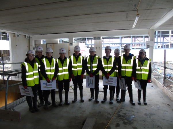 Technical pupils visit the school site - January 2016Technical pupils visit the school site - January 2016