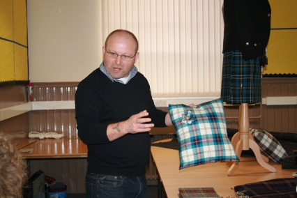 Martin discusses ideas with our S3 Art students