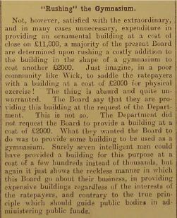 1911 John O' Groat Journal clipping